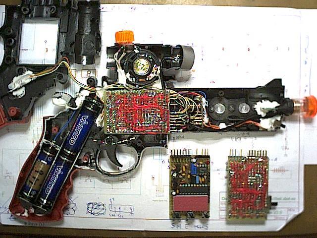 Interior del prototipo de revolver 1