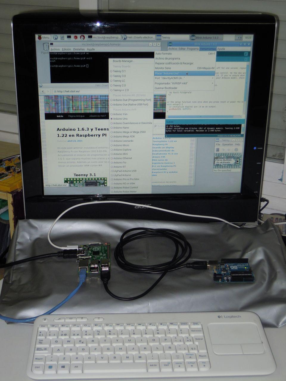 Raspberry y Arduino UNO